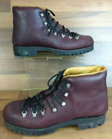 Burgundy Red Leather James Boylan Vibram Sole Boots Size 8 Walking Hiking etc.