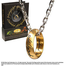 The Lord of the Rings The One Ring On Chain Brand New Book Display Noble Prop