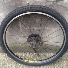 weinmann zac 19 26 inch rear mountain bike wheel disc kenda tyre and chain QR