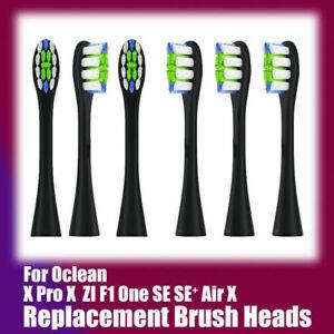 6x testine di ricambio nere per spazzolino per Oclean One SE SE+Air X 99 Pro