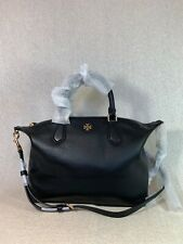 NWT Tory Burch Black Pebbled Leather Carter Small Satchel - $498