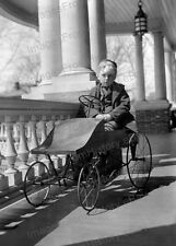 8x10 Print Historic Photography Young Boy Seated Pedal Car 1910 #2016962