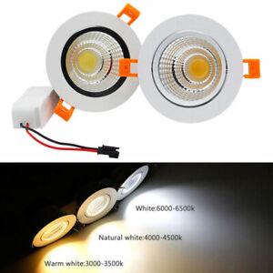 Dimmable 3W 5W 7W 9W 12W 15W 20W COB LED Recessed Ceiling Down Spot Light Bulb