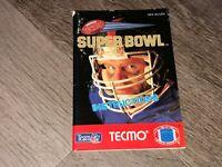Tecmo Super Bowl Instruction Manual Booklet Nintendo Nes Authentic