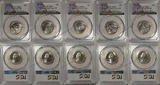 2016 S National Park 5 Coin Quarter Set 25c PCGS MS67 USA Flag