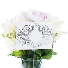 Plastic Straight Head Floral Picks Cardette Card Holder Wedding Decoration 100pc