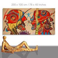 GEMÄLDE KAUFEN GESICHTER ★ KUNST BILDER ORIGINAL PORTRAITMALEREI ★ 200 x 100 cm