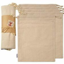 Organic Reusable Grocery Bags Cotton Produce Bags, Large Canvas Muslin Storage 5
