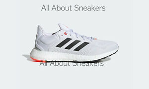 """Adidas PUREBOOST 21 """"White / Core Black / Solar Red"""" All Size Limited Stock"""