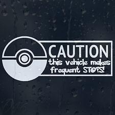 Funny attention ce véhicule rend des arrêts fréquents! voiture autocollant vinyle autocollant