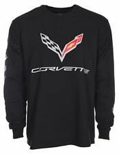 Men's Corvette Shirt Black Long Sleeve Shirt Screen Printed COR8L3CLG9BLK