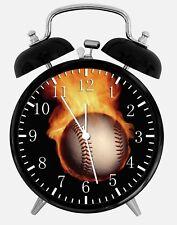 """Baseball Alarm Desk Clock 3.75"""" Home or Office Decor X64 Nice For Gift"""