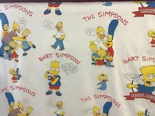 BART SIMPSON CURTAIN FABRIC 5m Cotton Print HOMER THE SIMPSONS