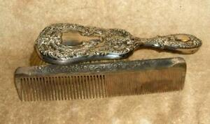 Mid to Late 1800's Gorham Sterling Brush & Comb Set