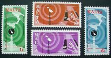 1977 MALTA: QE II: WORLD TELECOMMUNICATIONS DAY: SET OF 4 MNH STAMPS