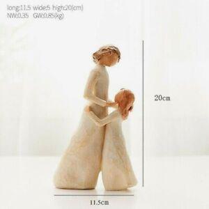 Resin Family Miniature Statue Sculpture Figurine Tabletop Home Office Decoration
