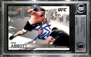 Tank Abbott Signed 2010 Topps UFC Knockout Rookie Card #6 BAS Beckett COA RC WCW