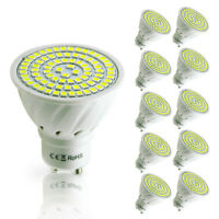 10 Pack GU10 LED Spotlight 48/60/80Leds MR16  E27 lamps Bombillas Bulbs 110/220V