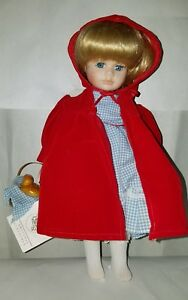 Little Red Riding Hood Porcelain Doll Bradley's Collectible Dolls Limited