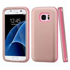 Étuis, housses et coques roses métalliques en silicone, caoutchouc, gel pour téléphone mobile et assistant personnel (PDA)