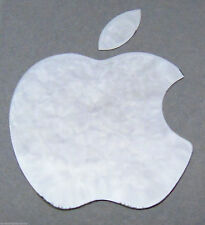 Silver Apple Logo Decal for iPhone Metallic Stickers 60mm x 45mm Approx desktops