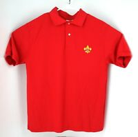 Boy Scouts of America Unisex Medium Red Polo Shirt BSA cub scouts camping EUC