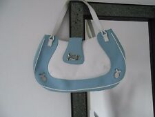 Authentic Chopard Happy Fishes Sky Blue & White Calfskin Leather Handbag