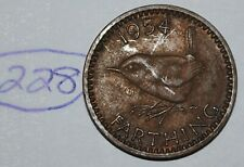 1954 Great Britain Farthing UK Coin KM# 895 Lot #228