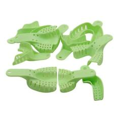 10x Dental Impression Trays Plastic Materials Teeth Holder For Oral Tools New