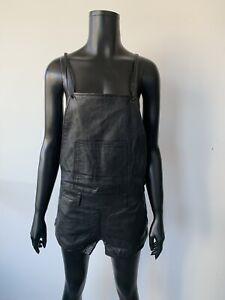 One Teaspoon Leather Overalls Medium