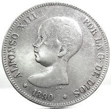 SPAIN (Alfonso XIII) 5 PESETAS 1890