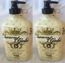2 Crown of Gold Bronzer Moisturizer After Tan Extender Lotion Devoted Creations
