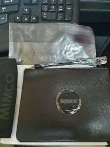 NEW STOCK! BNWT MIMCO BLACK MATTE MEDIUM POUCH  RRP99 -Express