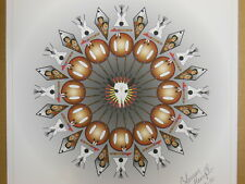 """Native Art ' GATHERING OF NATIONS ' Print ~ 17""""x17"""" ~ signed by Coleman 2010"""