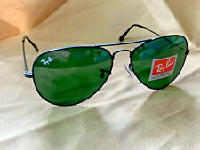Ray-Ban RB3025 Classic Aviator Large Sunglasses Black/Green G15 Mirror New w/cas