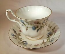 ROYAL ALBERT BONE CHINA ENGLAND BRIGADOON THISTLE FOOTED CUP & SAUCER SET!