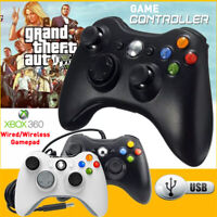 Wired/Wireless Controller For Microsoft xBox 360 PC Win 10 8 7 Vibration Gamepad
