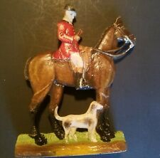 Fox Hunt Huntsman Figurine Bay Horse by Hermitage Pottery