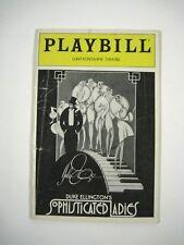 Duke Ellington's Sophisticated Ladies Playbill 1982 Signed Priscilla Baskerville
