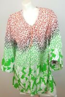 Lane Bryant Top Womens Plus Size 14/16 Boho 3/4 Sleeves Tunic Style #012301-12