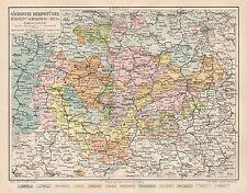 B6028 Ducati della Sassonia - Carta geografica antica del 1890 - Old map