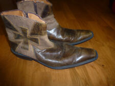 Men's  Short Leather Boots by, Trappers Made in Mexico Size 28 /US 10 M