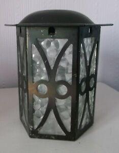 Vintage Retro 50's Art Deco Small Hall/Porch Lantern Lampshade Obscure Glass