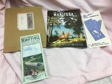 Manitoba Canada Inside the Rim of Adventure Travel Booklet  & Brochures 1950's