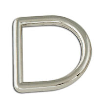 """Tandy Leather Decorative Solid D-Rings 3/4"""" (19mm) Nickel Free 4/pk 1167-04"""