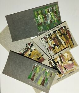 Orignal 1960's Set of 5 Silkscreen Christmas Cards By Alice & Martin Provensen