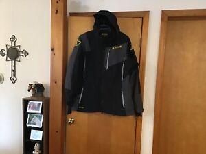 Klim Men's 2XL Black/Grey Snowmobile Jacket Gore-Tex Hooded Storm Parka  #IB-DS