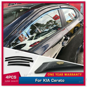 AUS Luxury Weather Shields Weathershields for KIA Cerato BD Sedan 2018+ #T