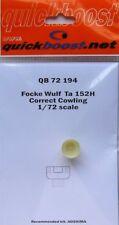 Quickboost 1/72 FOCKE WULF Ta152H corretta CAPPOTTATURA # 72194