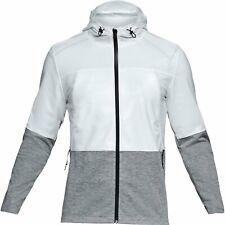 Under Armour UA Men's Core Swacket Hoodie - Medium - White/Grey - New